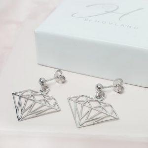 Silversmycken Örhängen diamant