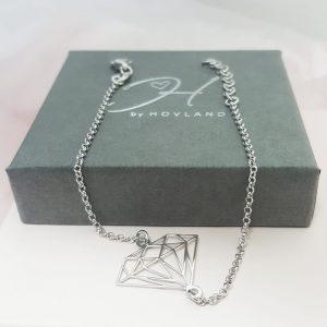Silversmycken Armband diamant