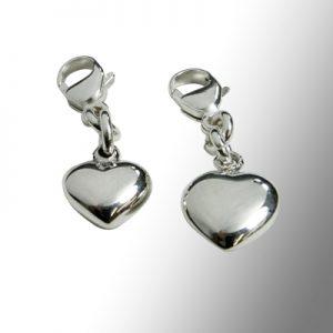 Berlocker silverhjärtan