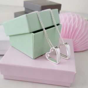 Namnhalsband silver hjärta