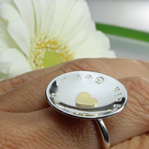 Ring heart of gold