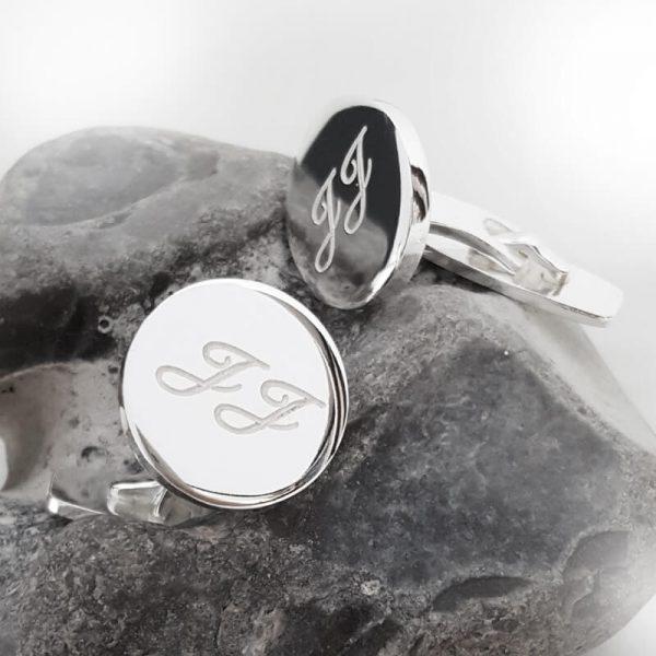 Manschettknappar silver