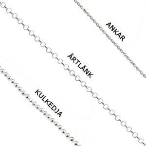 Blandade kedjor halsband