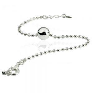 Silversmycken armband kula