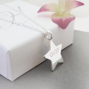 Barnhalsband stjärna mini