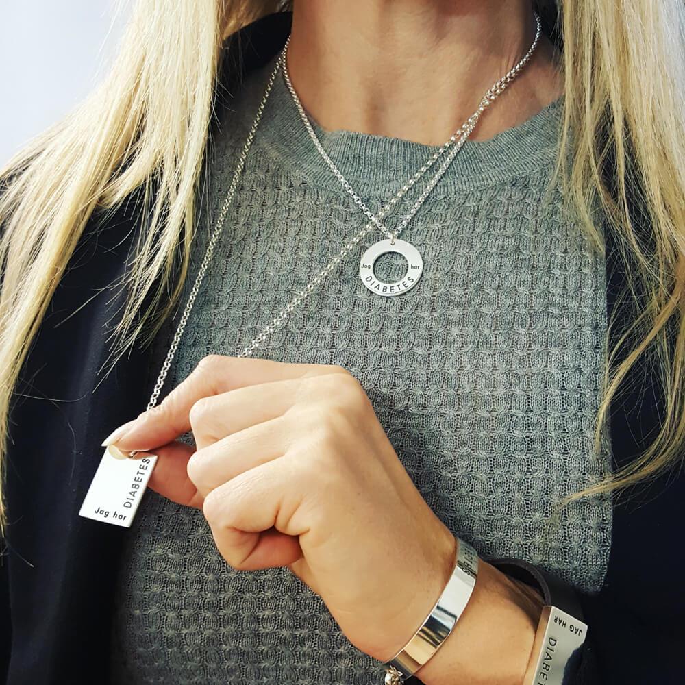 waran halsband silver