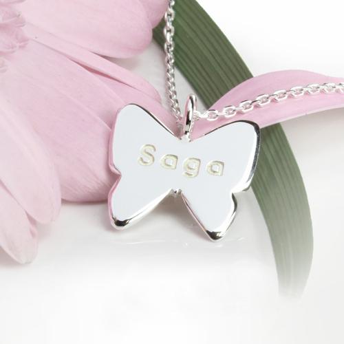 Barnsmycke silver fjäril