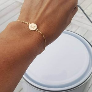Guldarmband med namn Dot 10mm