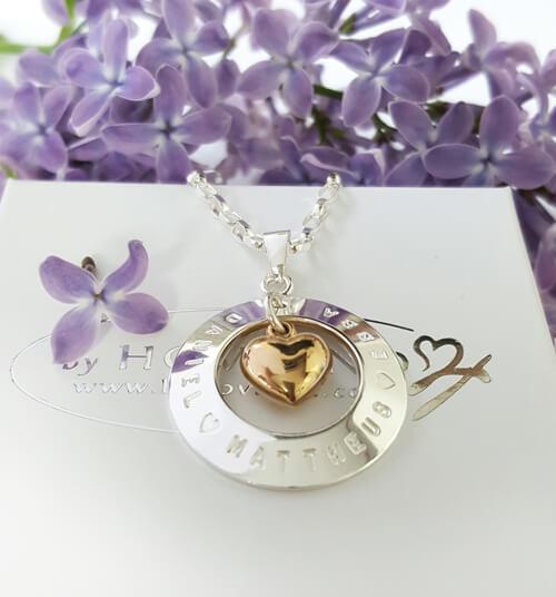 silversmycke med 18k hjärta