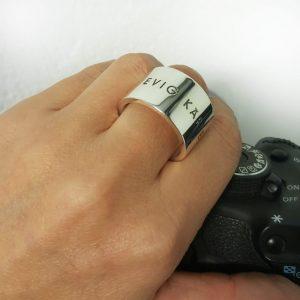 Ringar med djupgravyr 15mm