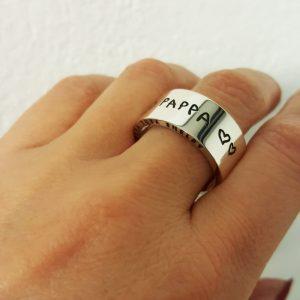 Djupgravyr av bild Ringar 6,8,10mm