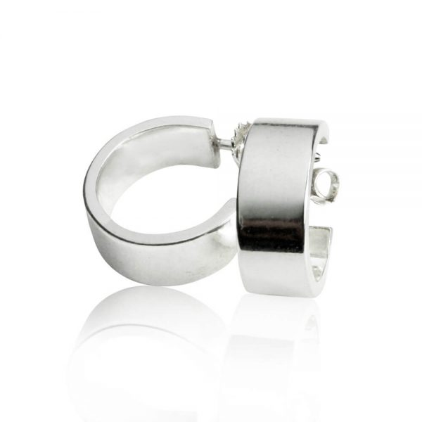 silverörhängen-creoler