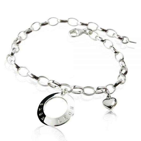 silverarmband med namn