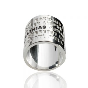 Silverring Kärlek djupgravyr