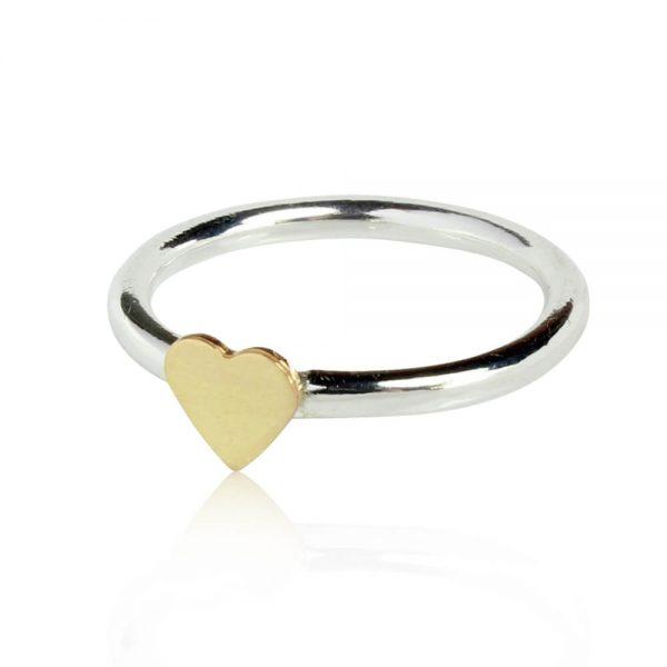 silverrring-guldhjärta