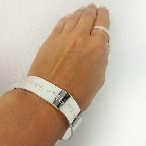 Silverarmband 15mm