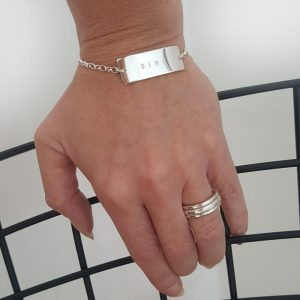 Namnsmycke brick armband