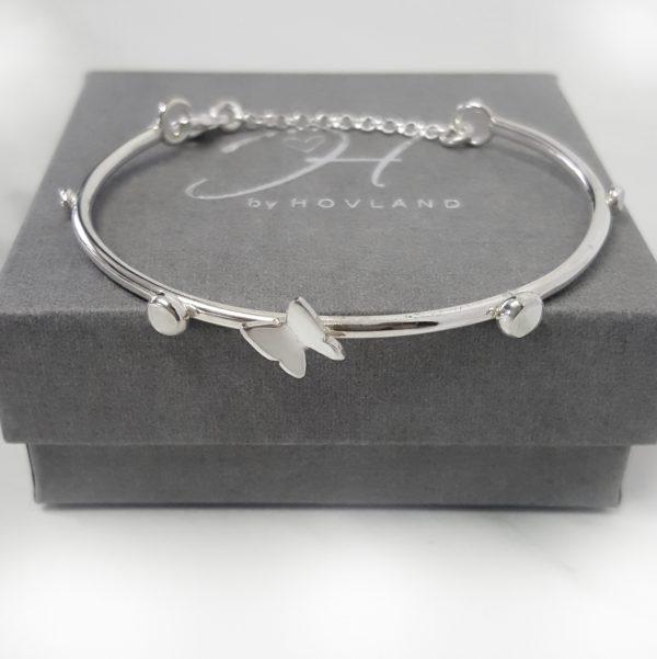 Minimalistisk silverarmband